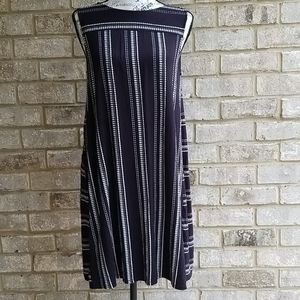 Loft Dress Black Stretch Sleeveless Sz MP
